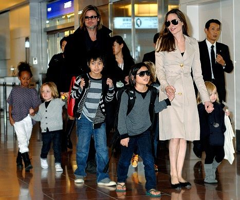 Brad and Angelina have adopted several of their children from around the world.