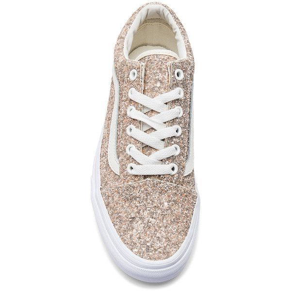Vans Chunky Glitter Old Skool Sneaker ($64) ❤ liked on