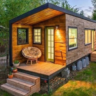 Tiny House with Porch http://www.bobvila.com/tiny-house/33953-16-tiny-houses-we-love/slideshows#!0