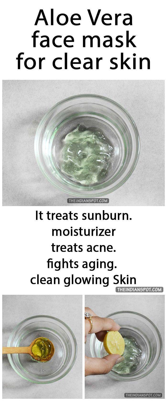 Aloe vera face mask for clear skin