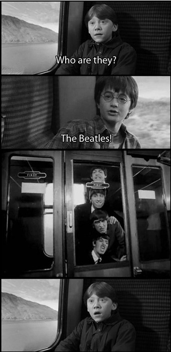 .Harry Potter & Co. meet the Beatles :)