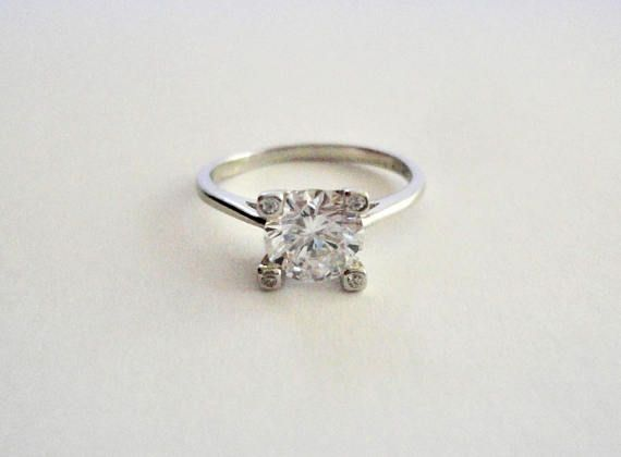 Clear/White Natural Round cut Diamond Simulated 925 Sterling