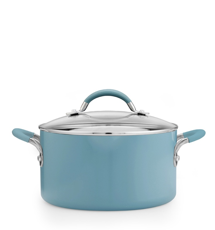Inspire 24cm stockpot - this stockpot features Prestige's Cushion Smart interior, steel and silicone handles and a glass lid.   Available for £43.20.