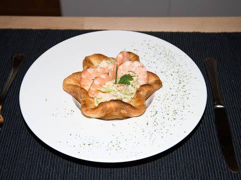 Fabulosa receta para Tartaletas de langostinos. Tartaletas de langostinos, un entrante que abrirá tu apetito!!  Vídeo: TARTALETAS DE LANGOSTINOS
