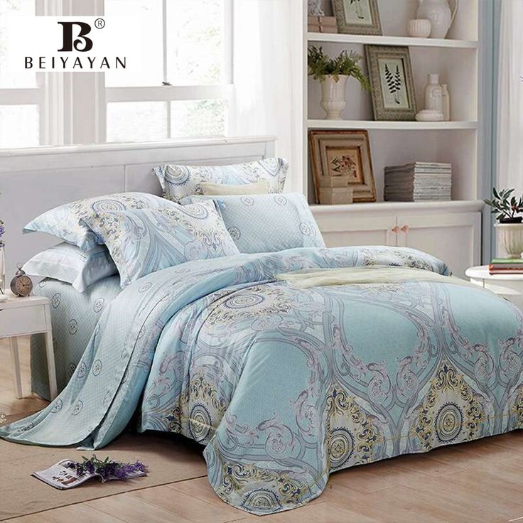 BEIYAYAN Luxury Bed Cover Duver Covet Set Bed Sheet Pillowcase Home Textile Jacquard Bed Linen Modern Bedding Set 4 Pieces #Affiliate