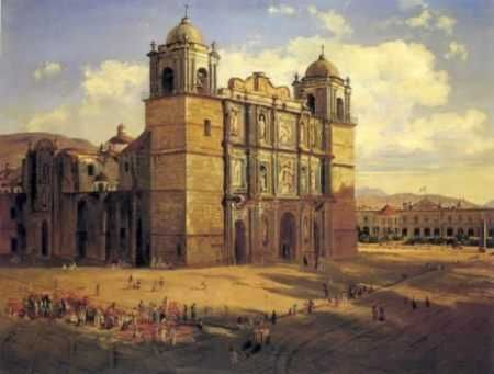 José María Velasco - Catedral de Oaxaca Óleo sobre tela 1887