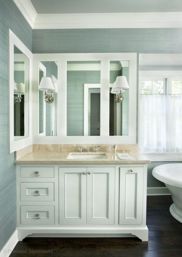 Crema Marfil Marble Bathroom Vanity  Http://precisionstoneworks.com/portfolio/bathrooms