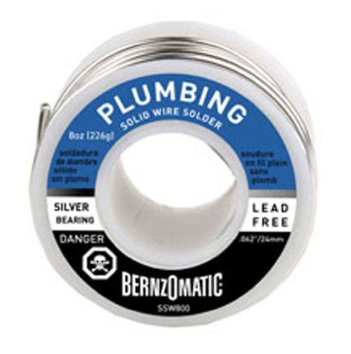BernzOmatic SSW800 8 oz. Lead Free, General Purpose/Plumbing Solder