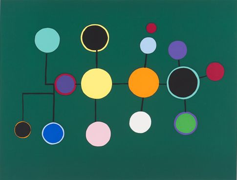 Ernst Mether-Borgström: Antilooppi, vihreä, 1976, serigrafia, 47x62,5 cm, edition 60 - Galleria Bronda 2016