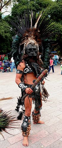 Aztec Warrior.  Imagine meeting him in the forest.  AGH!