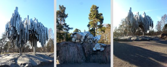 Sibelius Monument and a walking tour in Helsinki. Sights in Finland.
