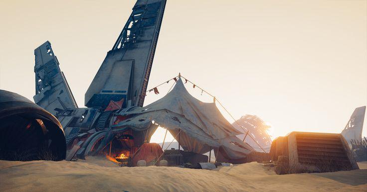 ArtStation - [UE4] Desert campsite, Sander Vander Meiren