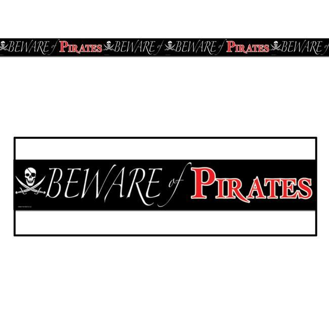 Beware Of Pirates All Weather Party Tape Pirate Party Tape Wall Pirate Decor