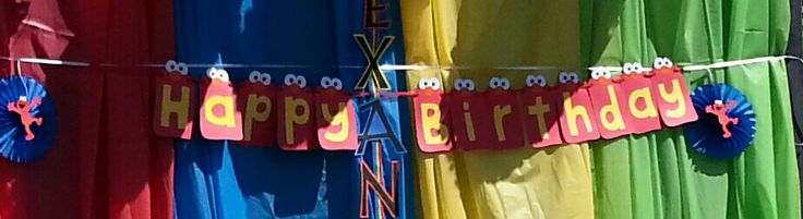 elmo birthday banner