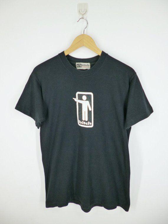 975656d943ec2 BITCH Shirt Vintage 90's Bitch Skateboards Logo Streetwear ...