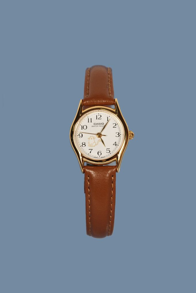 GOOD AS GOLD | Online Clothing Store | Mens & Womens Fashion | Streetwear | NZ CASIO — Classic Analogue Watch (LTP1094Q-7B8), brown leather / small cat face  http://www.goodasgold.co.nz/collections/casio