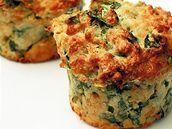 Sýrové muffiny se špenátem