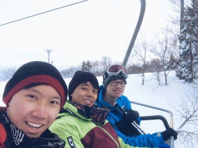 On the way to ski! Woo