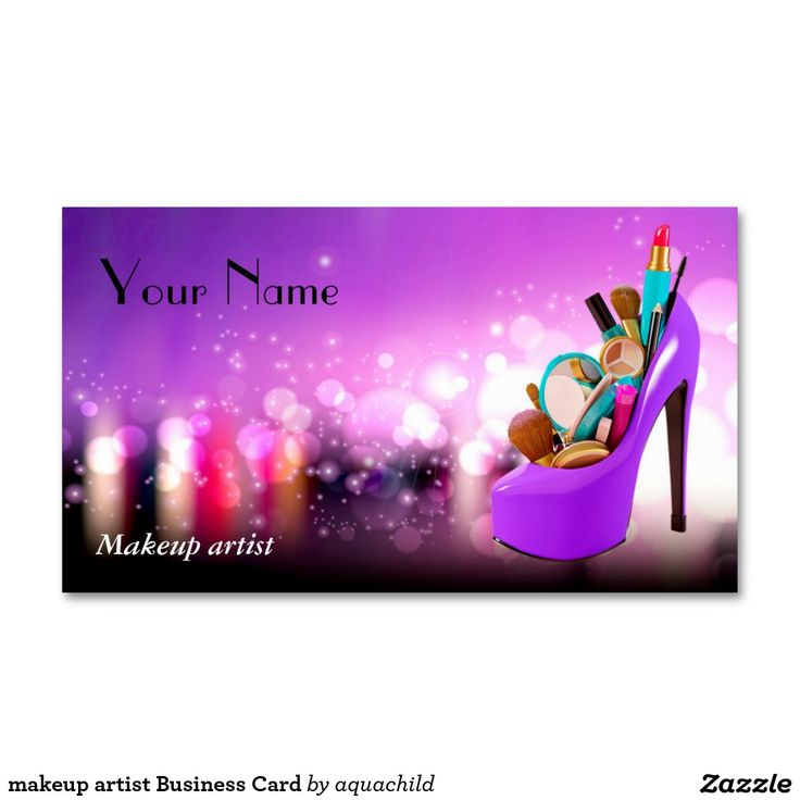 177 best Customized Makeup artist Business cards images on Pinterest ...