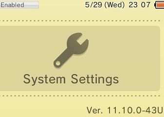 3ds firmware 11.10.0-43u safe for cfw