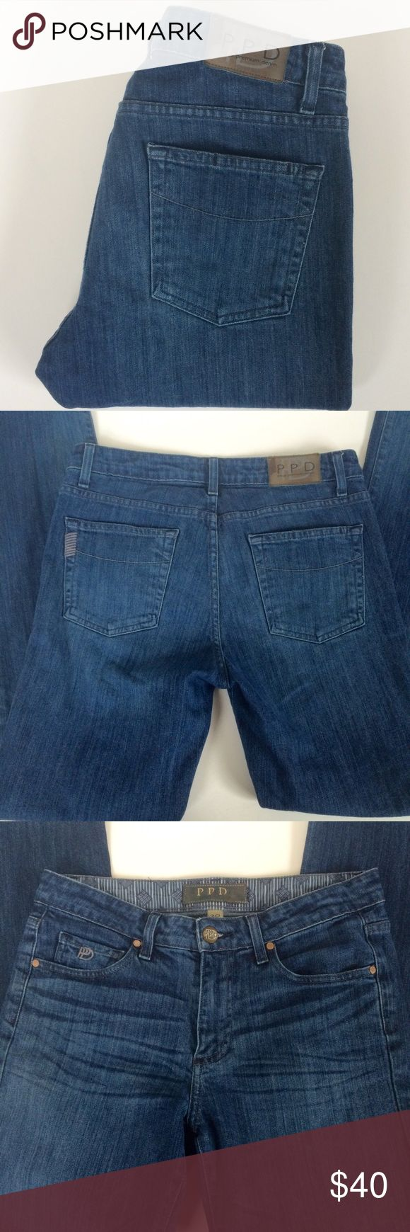 Men's PPD Paige Premium Denim Doheny Straight Leg Pre-owned in excellent condition.  Only worn once or twice.  Inseam measures at 32 inches. PPD Jeans