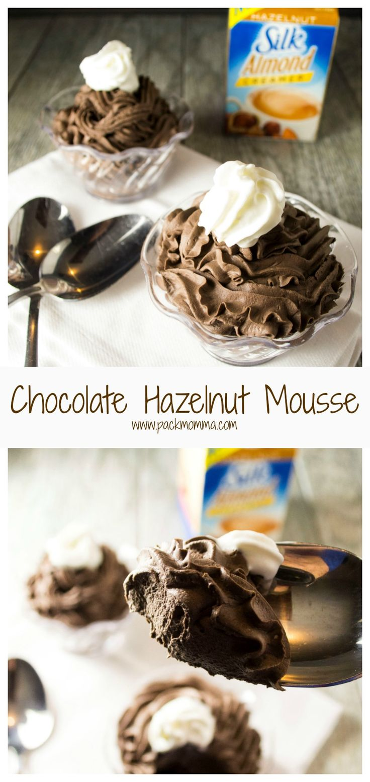 Treat yourself to the perfect cup of coffee and this decadent low fat Chocolate Hazelnut Mousse all thanks to dairy free Silk Creamer. #Ad #SilkSipToSpoon