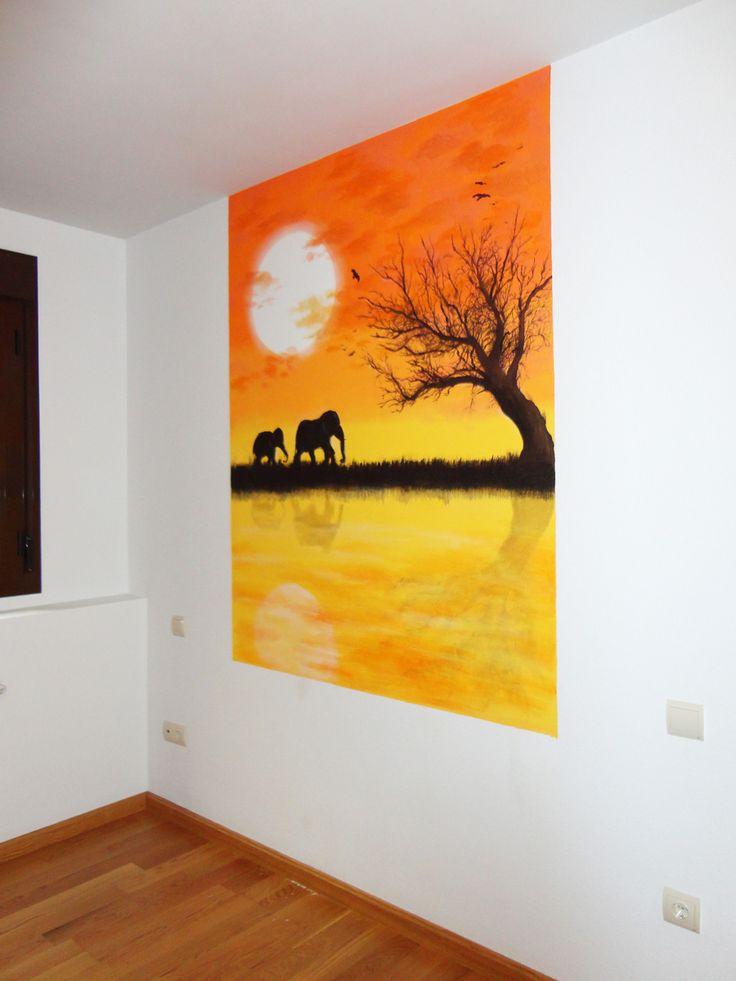 108 mejores im genes sobre murales pintados en pinterest for Murales en paredes interiores