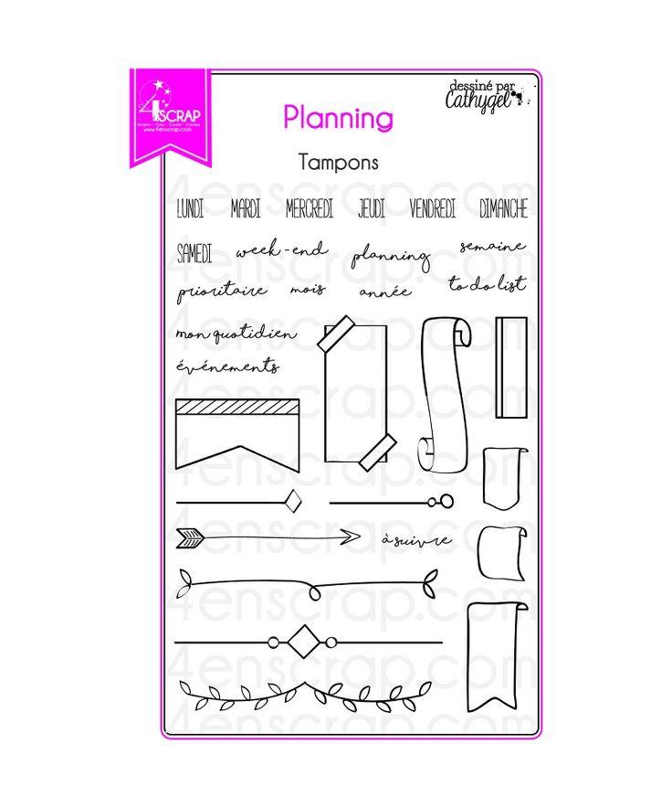 """Le set de tampons """"Planning"""" #4enscrap"""