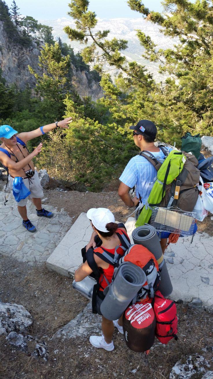 Tırmanış esnasında başka tırmanışcılarla karşılaştık