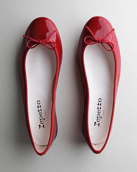 Repetto | Ballerine Cendrillon Veau Verni Rouge Flamme.