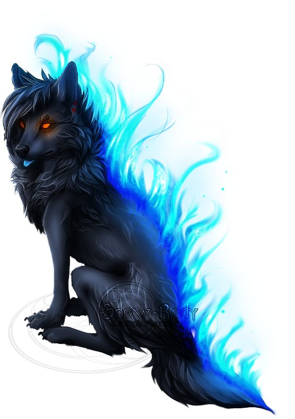 blue flame wolf by snow body on deviantart