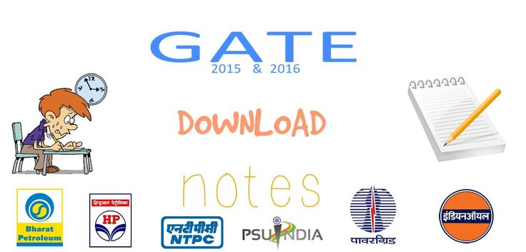 Download all branch GATE/IES/PSUs notes FREE in pdf!!
