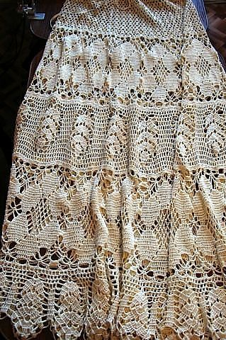 Wow gypsy style crochet skirt ♥LCS♥ with diagrams