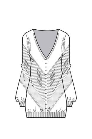 A/W 15/16 Design Direction: Womens Knitwear key items slouchy v neck