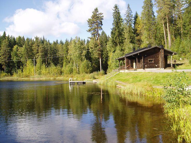 Suomi sauna. Finnish summer cottage by a lake. Love.