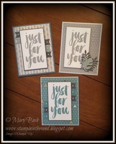 Stampin' in the Sand: Sneak Peek: Cards: Masculine Moonlight . Stampin Up sale a bration Botanicals For You