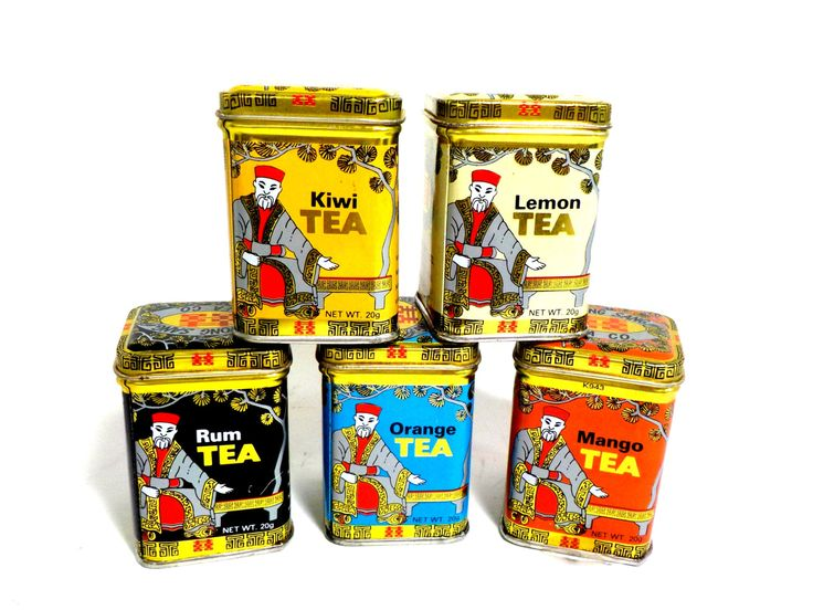 Tea Tins, Kwong Sang Tea Co, Hong Kong, Instant Tea Tin Collection, Decorative Tins, Lemon, Tea Lovers, Tins, Chinese Tea by TheVintagePorch on Etsy