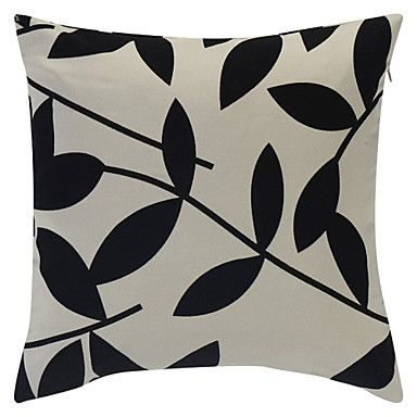 """Leaves nice. Flocked? """"Leaves Flocking Polyester""""  Pillow Cover - USD $ 12.99"""