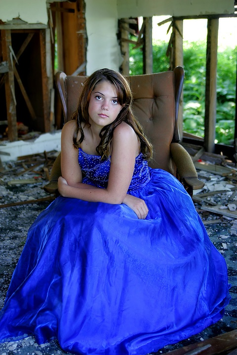 Kate-my daughter- trashing her pagent dress.