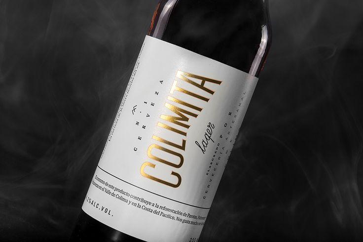 Cerveza Colima. Beer Label. Design by www.anagrama.com