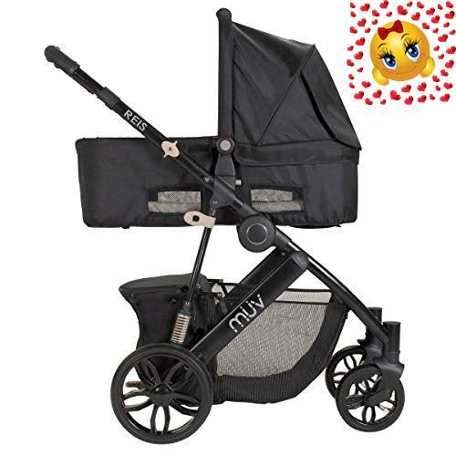 Combining style and everyday functionality, the #MUV REIS Travel System with KUSSEN Car Seat and Canopy is a lightweight and easy-to-use travel system. It featur...