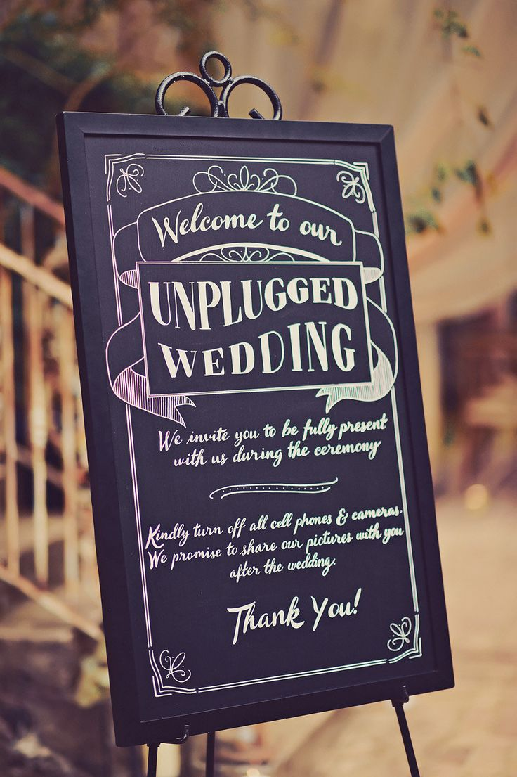 Elegant Maui Destination Wedding Unplugged Wedding SignWedding