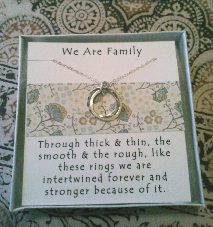We are Family Necklace- Perfect gift for Mom, Sister, Aunt, Cousin, or Family Friend. $38.00, via Etsy.