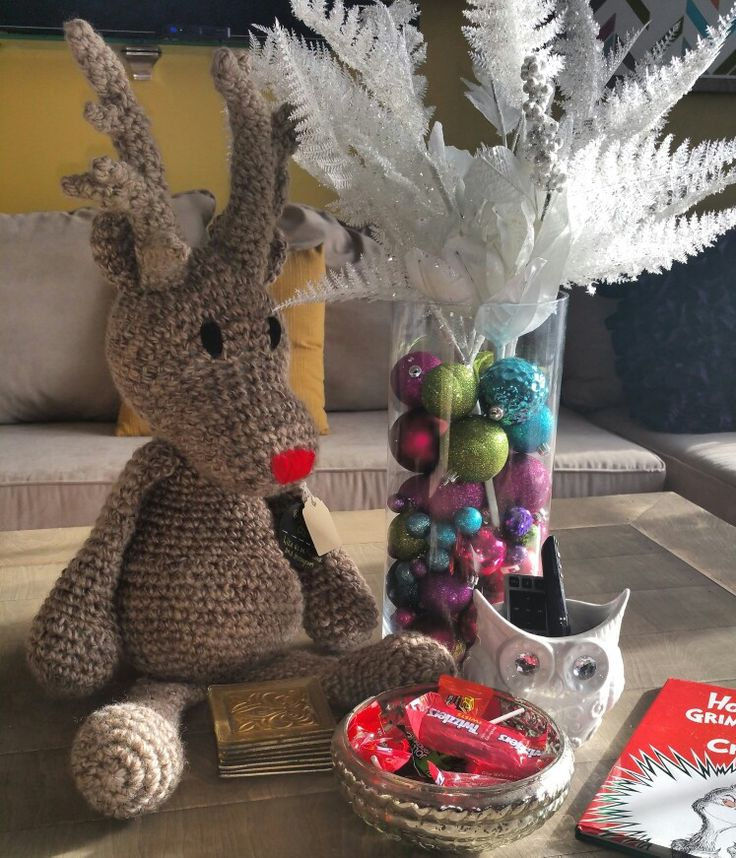 Yarnimal Creations large reindeer! #christmasdecor #handmade #crochet https://m.facebook.com/Yarnimalcreations/