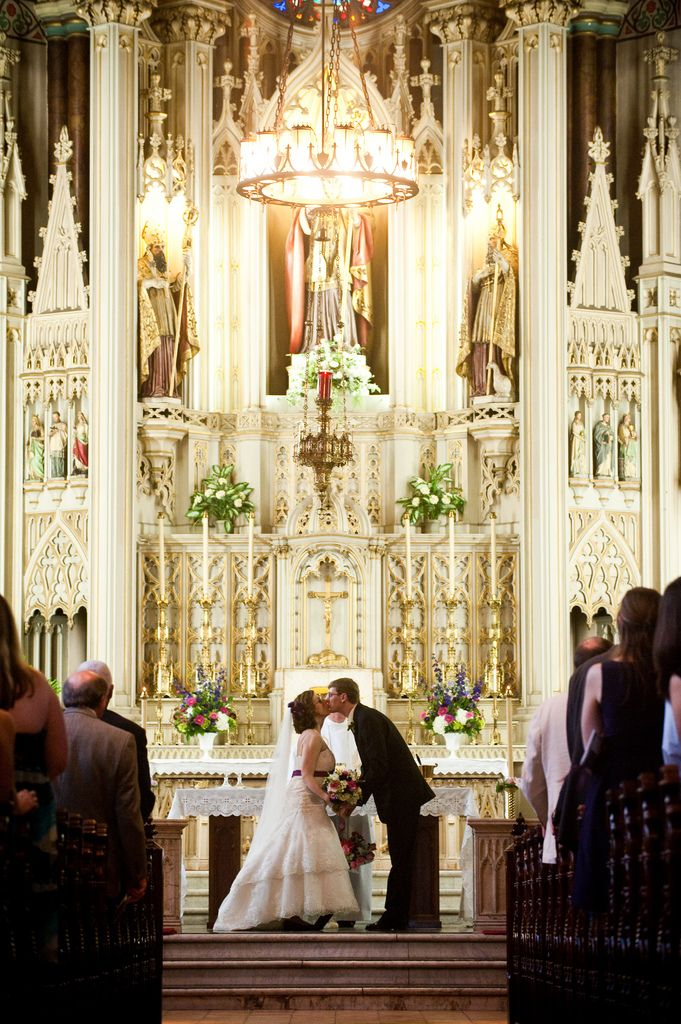 Gorgeous church wedding.
