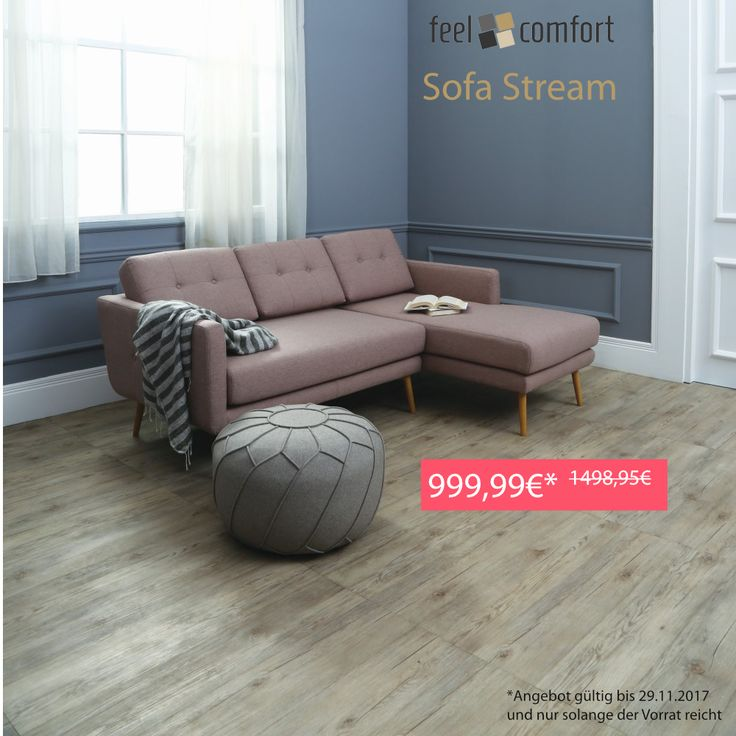 Ab heute unser #Sofa #Stream für 999,99€ statt 1498,95€. Jetzt zugreifen, n… – Feelcomfort.de