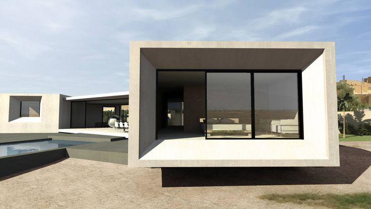 villa design avec grandes terrasses et piscine près de Marrakech au