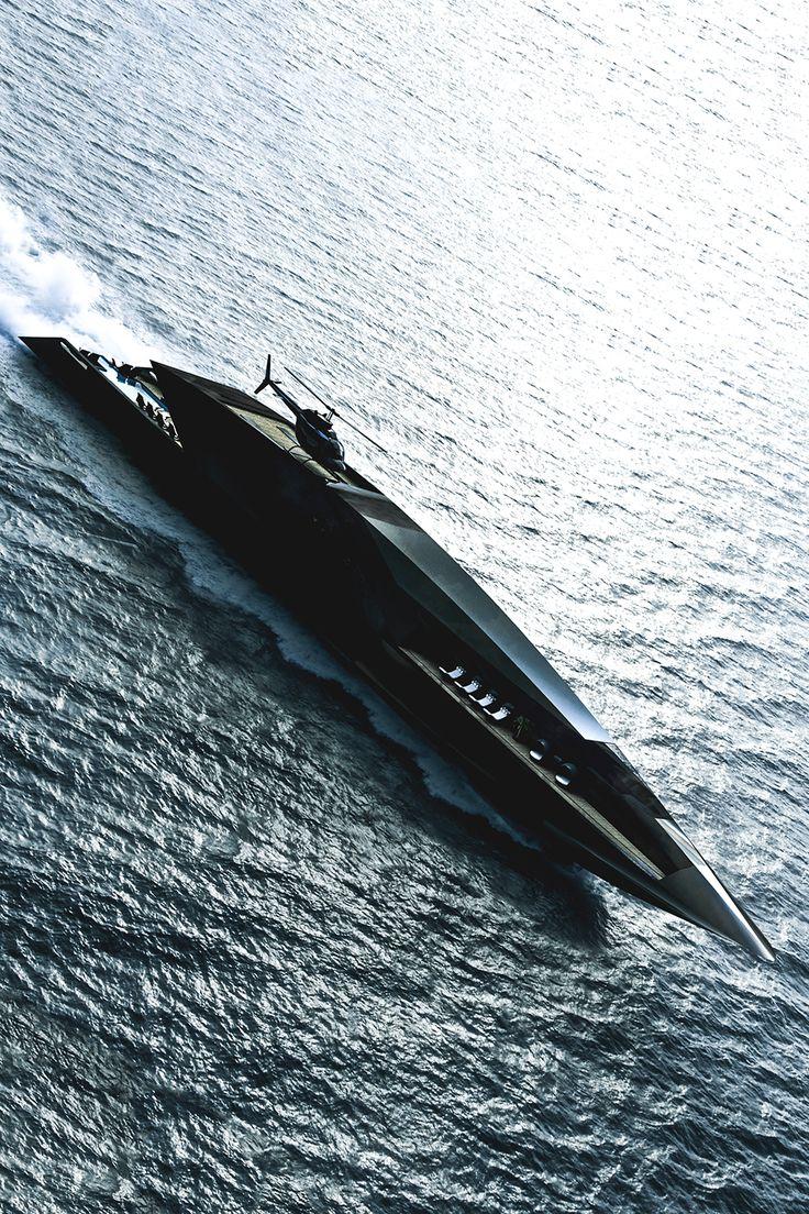 "motivationsforlife: "" Black Swan Yacht designed by Timur Bozca // Instagram // Edited by MFL "" More"