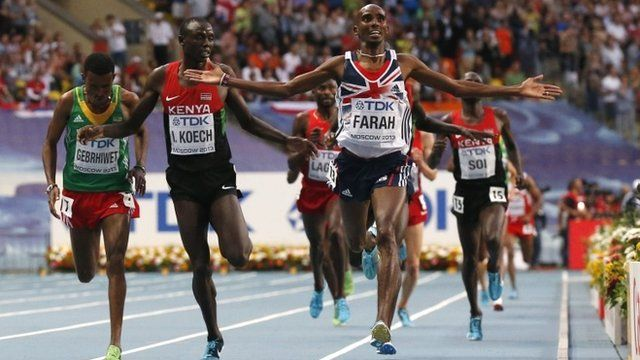 Mo Farah wins 5,000m gold at World Athletics 2013