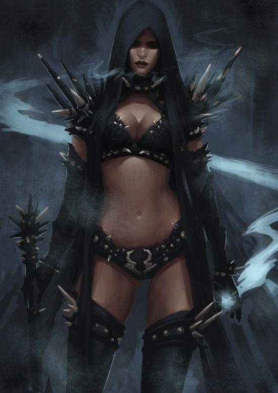 Dark Elf Mage - Concept by *Arsinoes on deviantART